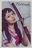 Notebook: Wakizashi Useful Composition Book Journal Diary for Men, Women, Teen & Kids Vintage Retro Design for Japanese Sword Fighting Beginner