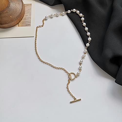 Collar Joyas Collar De Cadena De Joyería Dulce, Joyería De Moda, Collar De Perlas Blancas Redondas Simuladas De Temperamento Coreano para Mujeres, Reg