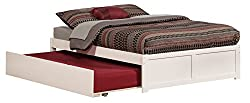 commercial Atlantic furniture Concord platform bed, twin size urban trundle, full, white atlantic platform bed