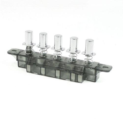 sourcingmap® MQ165 AC 250V 4A 5 Drucktaster Klaviertyp Schlüsselschalter für Reichweite Haube de