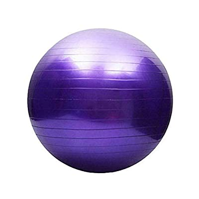 Suitable for Bodybuilding Dance, Massage Health Care Safe, All Ages Sturdy, Environmentally Friendly Men Women at Home 65 Cm. Purple Balance Ball w/ Pump - Fitness Exercise Pilates Gym Yoga Birthing.