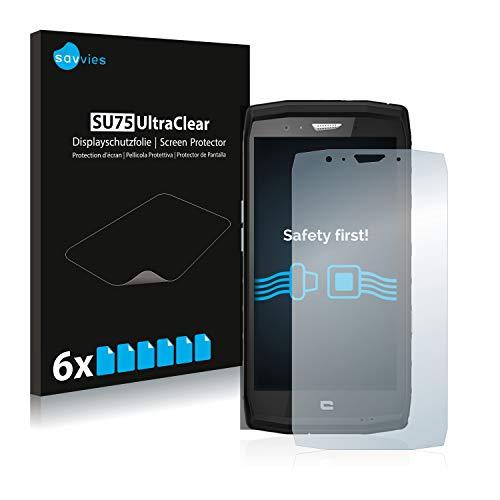 Savvies 6X Schutzfolie kompatibel mit Crosscall Trekker X4 Bildschirmschutz-Folie Ultra-transparent