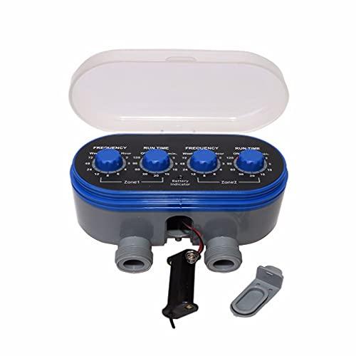 XZJJZ Válvula de Bola Electronic Automatic Dwing Dos Outlet Four Dials Water Timer Garden Riego Controlador de riego para jardín, Patio