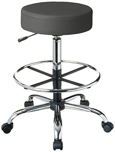 Boss Office Products Adjustable 16' Drafting Stool, Grey