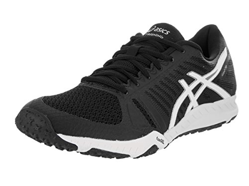 ASICS Women's FuzeX TR Cross-Trainer Shoe, Black/White/Silver, 5.5 M...