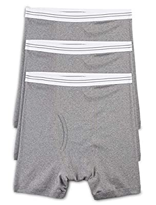 Harbor Bay by DXL Big and Tall Knit Boxer Briefs, Grey 4X, Pack of 3 from DXL