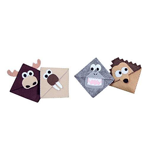 Kit segnalibro per cartoni animati in tessuto non tessuto di cactus Pianta Kit artigianato fatto a mano Regali per bambini Adulti