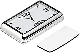 Perfuw Car Quartz Clock, High Accuracy Dashboard Digital Clocks, Car Kit Electronic Clock and Mini Car Rectangle Analog Quartz Watch, Suitable for Car, Home, Study, Decoration