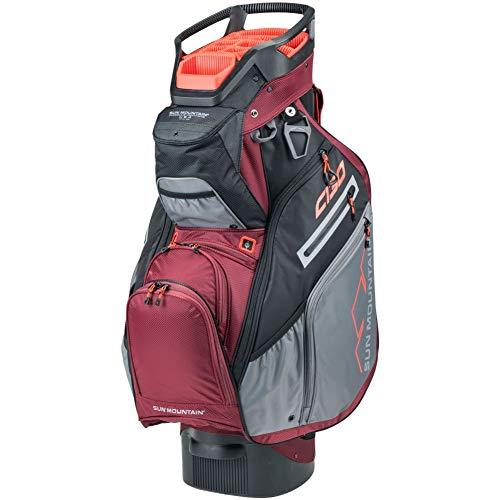 Product Image 1: Sun Mountain C-130 Cart Bag Golf Black/Garnet/Gunmetal/Inferno 2020 New