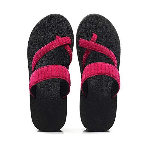 Noctiflorous Piscina de Gimnasio Zapatillas,Chanclas de Suela Gruesa, Zapatos Antideslizantes de Playa Aumentada-4 Rosa Rojo_39,Sandalias De Ducha Antideslizantes