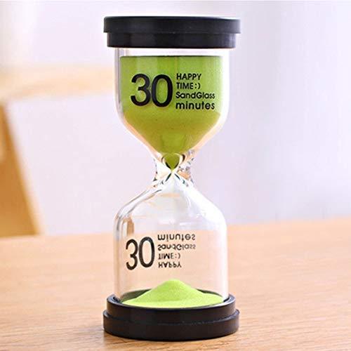 Escritorio de arena del reloj temporizador de 10 minutos / 15 minutos / 30 minutos El cepillado de los Niños en huelga temporizador de reloj de arena temporizador decoraciones caseras (Color: Fruta ve