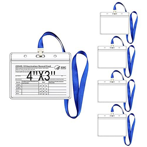 CUTEH Protector de Tarjeta de Vacuna CDC con Cordón Tarjeta de Identificación...