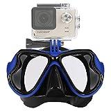 IXROAD Maschera Occhiali Snorkeling Subacquea Sub con Supporto per Action Cam (Blu)