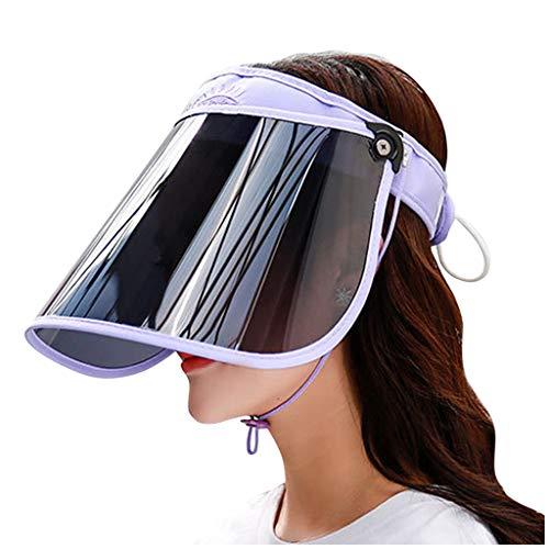 ErYao Sun Visor UV Protection HAT Face Sheild Cap Plastic Poker Visor Hat Hiking Golf Tennis Outdoor(Purple)