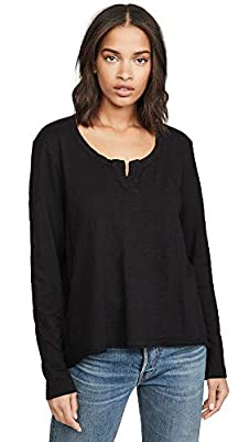 Wilt Women's Shrunken Placket Tee, Black, X-Small