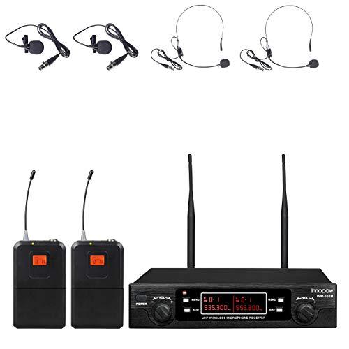 Innopow 80-Channel Dual UHF Wireless Mic System