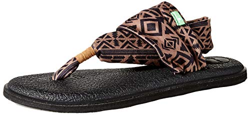 Sanuk Damen Yoga Sling 2 Solid Vintage Flip-Flop Sandale, Skyland Braun/B, 40 EU