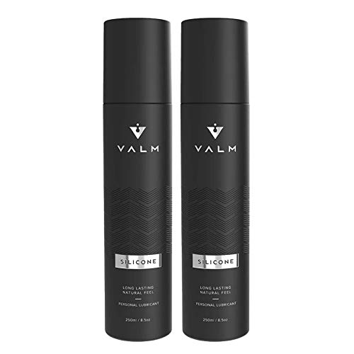 Valm Silicone Based Personal Lubricant - Ultra Long Lasting - Sex Lube for Women, Men, and Couples - 8.5 Ounce Pump (Pack of 2), 17 Fl Oz