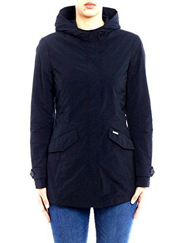 WOOLRICH Ws Sommer Parka Schwarz Farbe Wasserdichte Jacke Frau Wwcps2468 - Siehe Fotos, XS