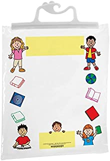 "Really Good Stuff Hang-Up Clear Plastic Bags – Store Student Materials, Books, Center Activities – Safely Send Home Assignments – Sturdy Snap Shut Hanging Plastic Bags, 11""x13 3/4"" (Set of 12)"
