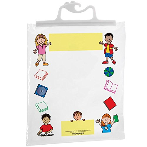 """Really Good Stuff Hang-Up Clear Plastic Bags – Store Student Materials, Books, Center Activities – Safely Send Home Assignments – Sturdy Snap Shut Hanging Plastic Bags, 11""""x13 3/4"""" (Set of 12)"""