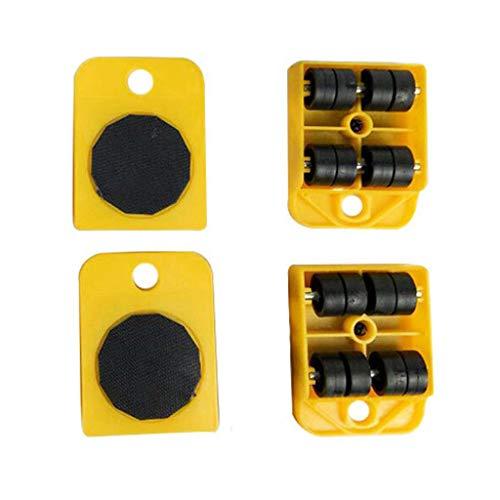 5 st/ücke M/öbel Transport Handwerkzeug Set M/öbel Lifter Heavy Mover Rollen