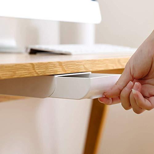 LJYY Caja de almacenamiento Tipo cajón, debajo de la Mesa Estilo de Pasta oculta Papelería de oficina Contenedor de almacenamiento de cocina Toallas de Papel Teléfonos móviles Organizador de sopo