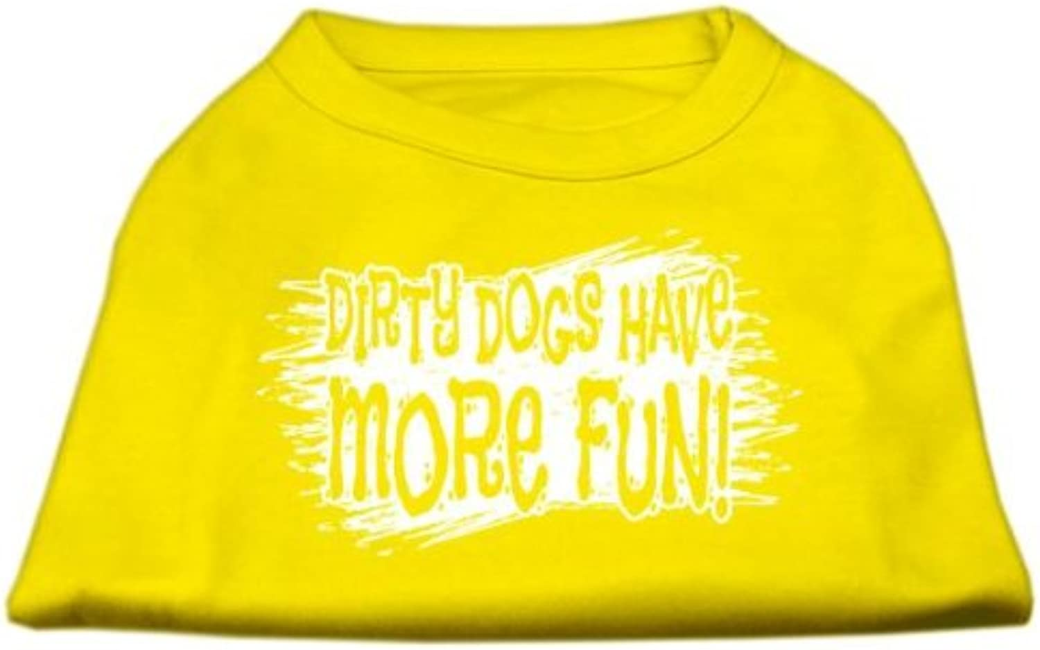 Mirage Pet Products Dirty Dogs Screen Print Shirt Yellow Lg (14)