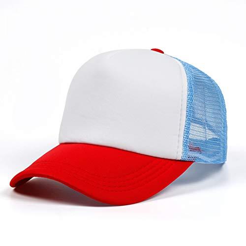 Gorra de Beisbol NuevoGorra De Béisbol Gorra De Camionero para Mujeres Hombres UniMalla Ajustable Tamaño Rojo Cielo Azul Gorra De Golf Sombreros