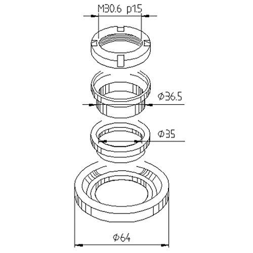 10042L Extracteur de roulement Vespa T5 125 vnx5t 88–88