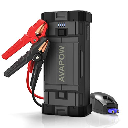 AVAPOW Car Battery Jump Starter Portable,1500A Peak 12800mAh,Jump Starter Battery Pack,Jumper Box(Up to 6L Gas 5.5L Diesel Engine)Auto Battery Booster with Smart Safety Cable,USB Fast Charging,Type-c…