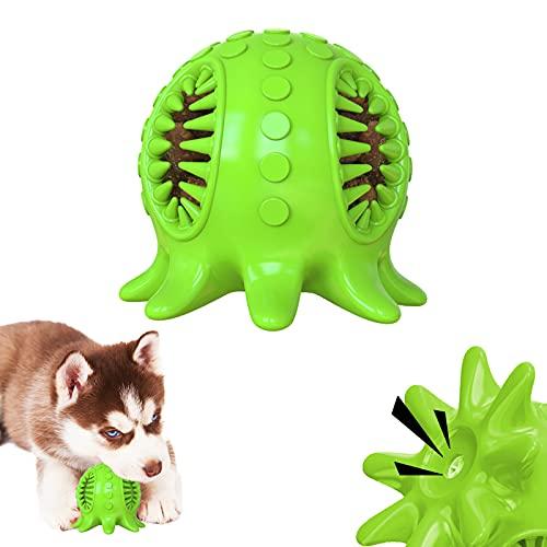 KAMEUN Hundespielzeug Ball, Hundeball mit Zahnpflege-Funktion Hundespielzeug, Hund Spielzeug Ball mit Lustigem Sound, Hundespielball Unzerstörbar Kauspielzeug aus Naturgummi
