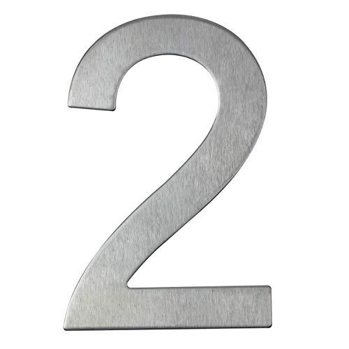 Hausnummer aus Edelstahl selbstklebend – Höhe 10 cm – Straßennummer – Hausnummer (2)