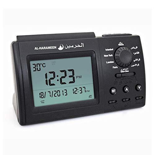 MQMT Pantalla LCD De Reloj Musulmanes AZAN Reloj Despertador Escritorio Árabe, luckyqq