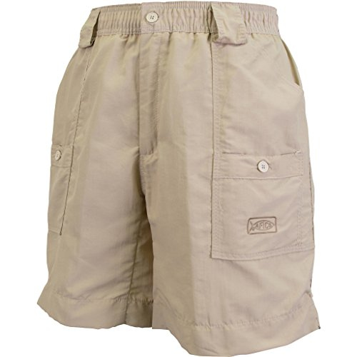 "AFTCO Bluewater M01L Long Traditional Fishing Shorts - Khaki - 34"""