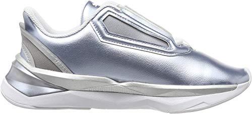 PUMA Damen Lqdcell Shatter Xt Metal Wns Hallenschuhe, Grau (Puma Silver-Puma White 01), 38.5 EU