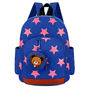 41v+zDv5YOL. SS300  - Cosyres Mochila para Niños Guarderia Niño Mochila Escolar Infantil Bebe Azul