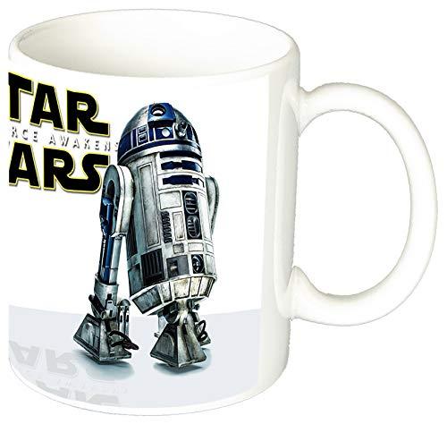 MasTazas Star Wars El Despertar De La Fuerza The Force Awakens BB-8 R2-D2 Taza Ceramica 11 oz ≈ 325 ml