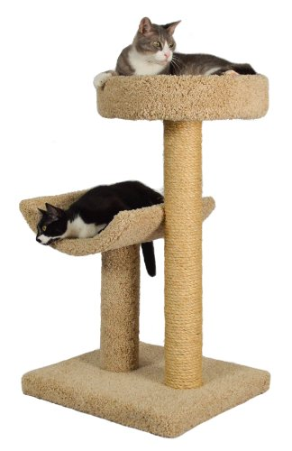 "Molly and Friends ""Simple Sleeper"" Premium Handmade 2-Tier Cat Tree with Sisal"