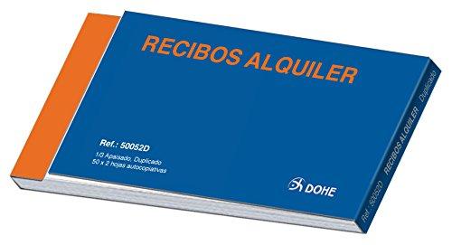 Dohe 50052D - Talonario de recibos tercio apaisado Alquiler IVA duplicado