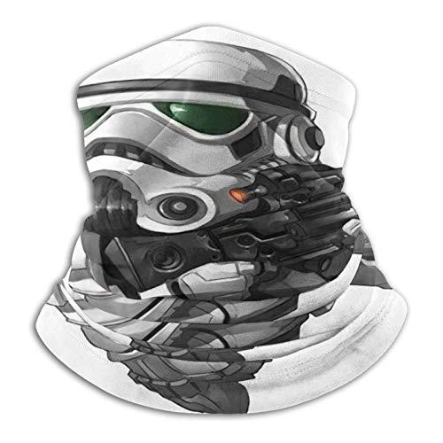 Ives Jean Star Wars Logo Metal hombres y mujeres microfibra calentador de cuello polaina elástica cara cubierta mitad tubo bufanda versatilidad bandana diadema diadema diadema diadema