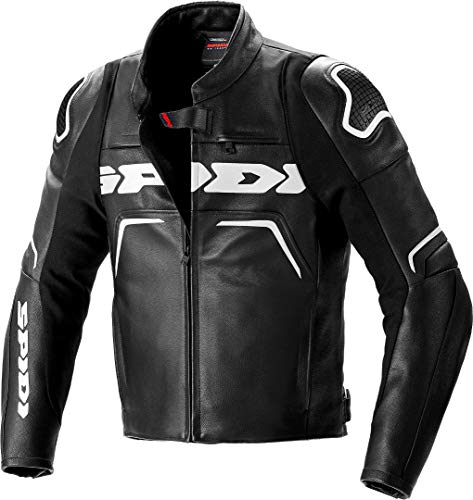 Spidi Evorider 2 Motorrad Lederjacke Schwarz/Weiß 58
