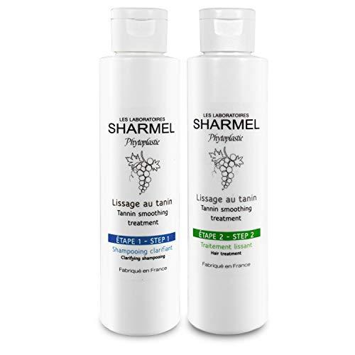 KIT LISSAGE AU TANIN - SHARMEL - 100% FRANÇAIS - (2 x 150 ml - 2 applications) - ENRICHI EN POLYPHÉNOL D'EXTRAIT DE RAISIN