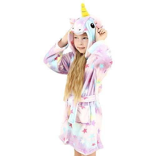 wgde toy Spielzeug für 6-7 jährige Mädchen, Weich Einhorn Kapuzen Bademantel Nachtwäsche für Kinder Einhorn Spielzeug für 6-7 jährige Mädchen Einhorn Geschenke für 6-7 jährige Mädchen