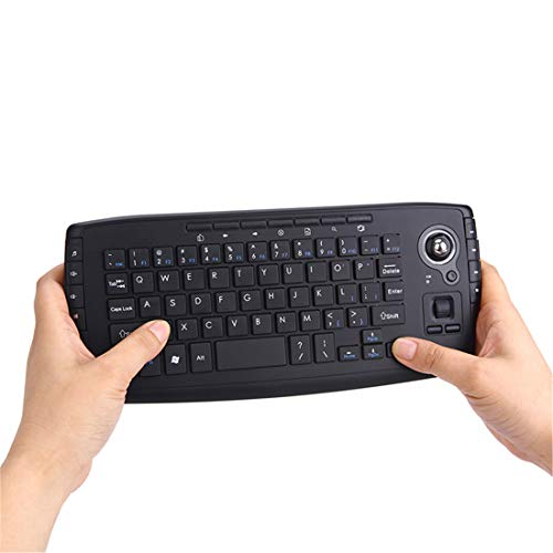Keyboard and Mouse Set, Mini 2.4G Wireless Keyboard, Trackball Keyboard for Laptop PC, Portable Multi-function Trackball Air Mouse Decent Design