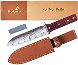HOKURU Hori Hori Knife - Landscaping, Digging, Weeding, Cutting,...
