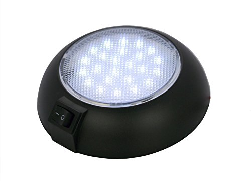 LED Dome Lamp - High Power White LED Downlight - 12 Volt - Fixed Mount - for Home, Auto, Truck, RV, Boat and Aircraft