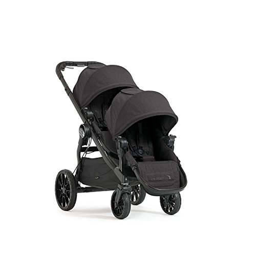 Image of Baby Jogger City Select Double Stroller | Baby Stroller with 20 Ways to Ride, Included Second Seat | Quick Fold Stroller, Granite