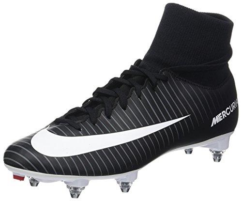 Nike Herren Mercurial Victory Vi Df Sg Fußballschuhe, Schwarz (Black/White/Dark Grey/University Red), 40.5 EU