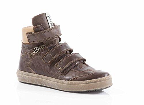 Telyoh Hi Sneaker Sportschuh aus weichem Leder mit Klettverschluß braun (31)